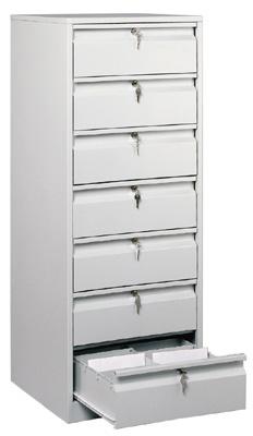 Металлические шкафы.  ТК7- картотека напольная Ме.  Картотеки, аптечки и почтовые ящики.